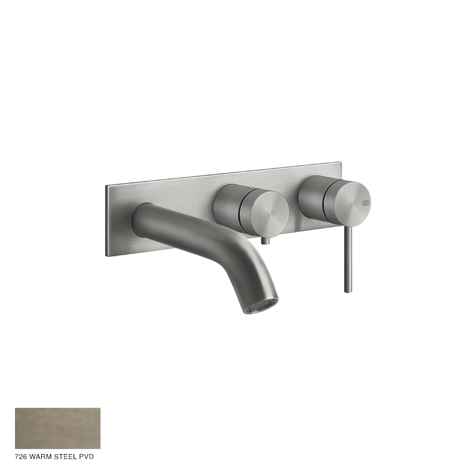 Gessi 316 Two-way Shower Mixer with diverter, tub-filler 726 Warm Bronze Brushed PVD
