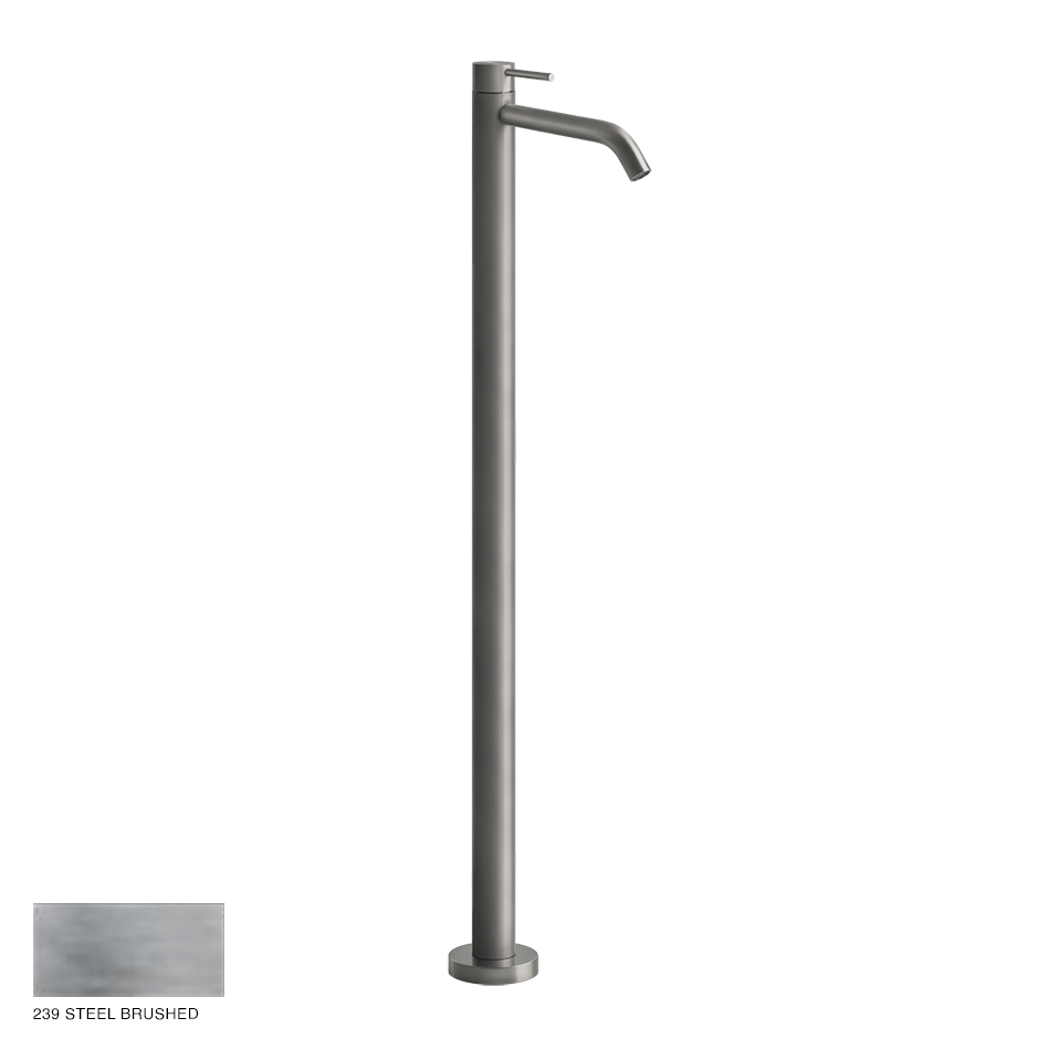 Gessi 316 Freestanding mixer Flessa, without waste 239 Steel brushed