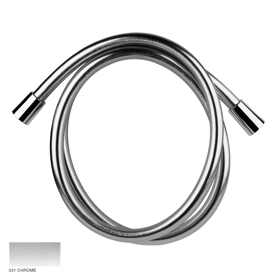 Cromalux flexible hose 1.25m with conic 1/2' connections 031 Chrome