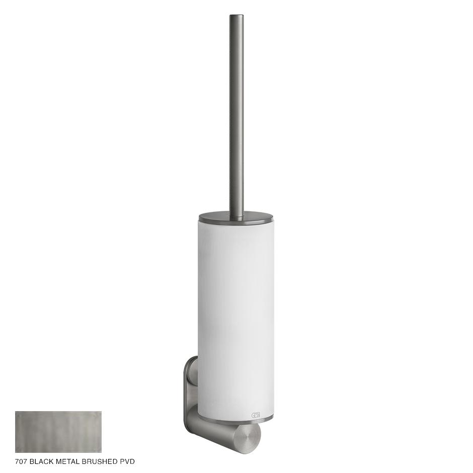 Gessi 316 Wall-mounted brush holder 707 Black Metal Brushed