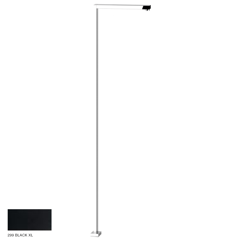 Rettangolo Freestanding spout, with separate control 299 Black XL