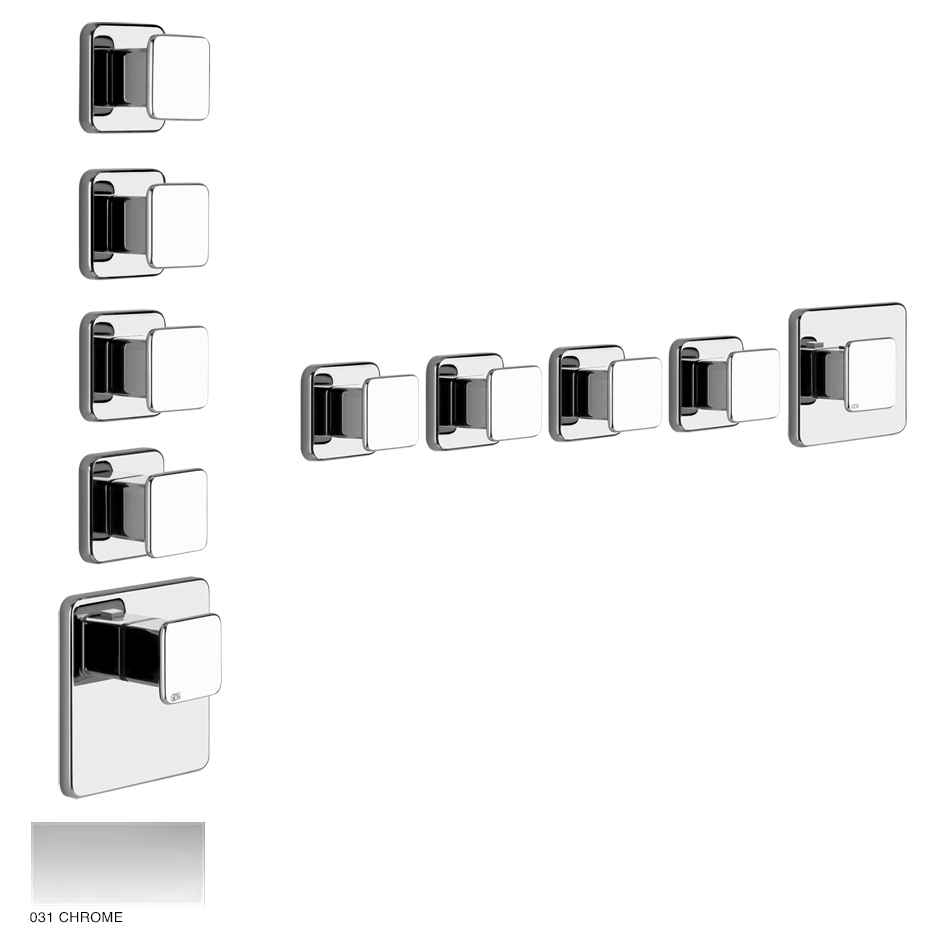 Ispa Wellness Built-in mixer, four outlets 031 Chrome
