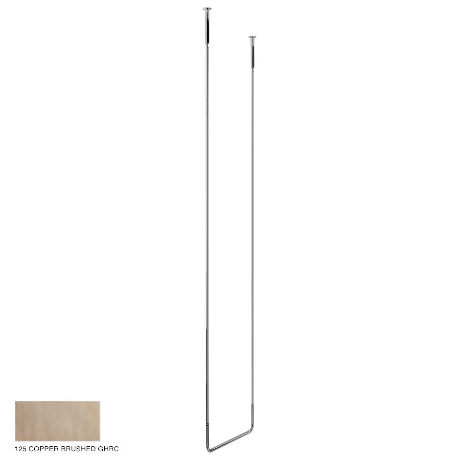 Goccia Ceiling towel rail, 45cm width, 180cm height 125 Copper Brushed GHRC