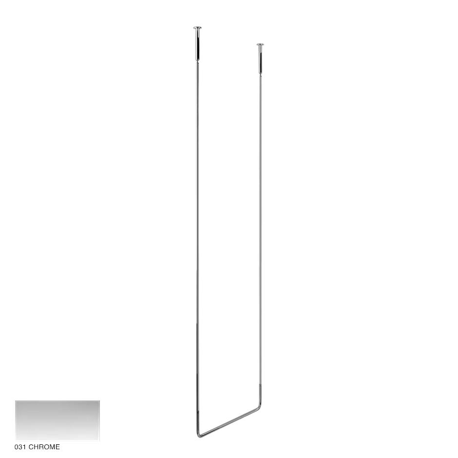 Goccia Ceiling towel rail, 60cm width, 180cm height 031 Chrome