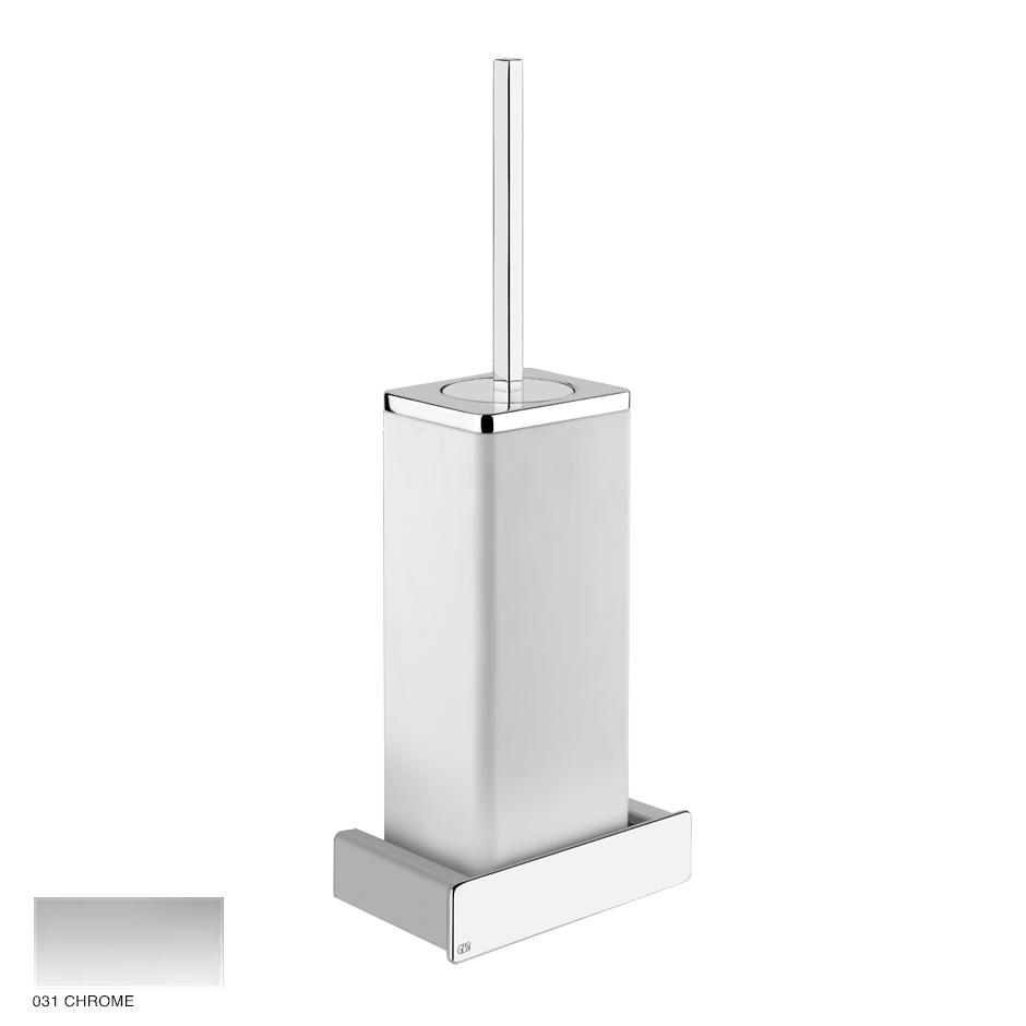 Ispa White wall-mounted brush holder 031 Chrome