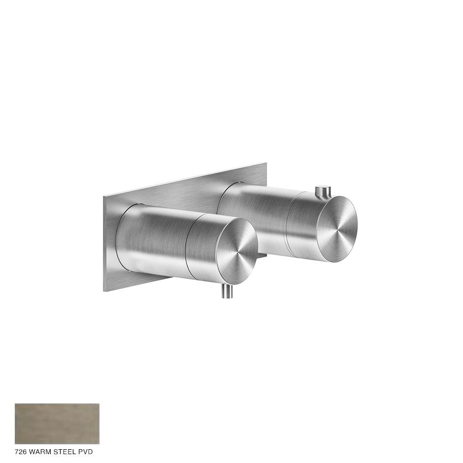 Gessi 316 Thermostatic Mixer, one-way 726 Warm Bronze Brushed PVD