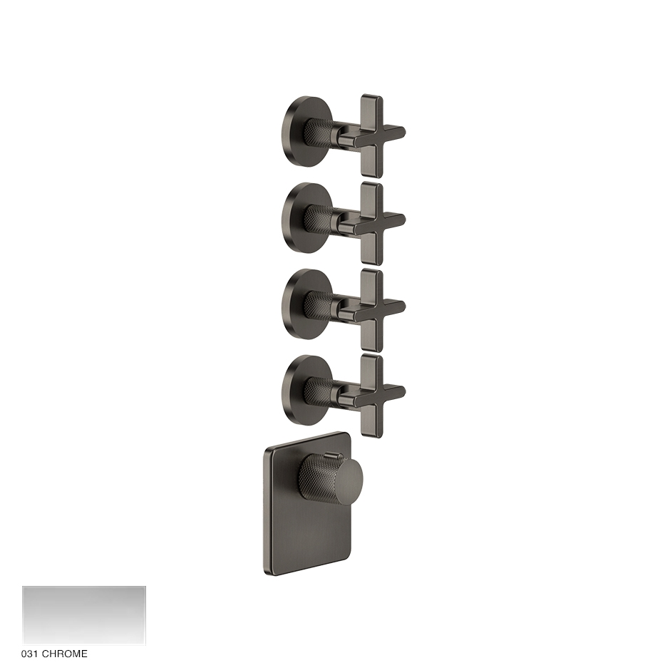 Inciso Wellness Built-in mixer, four outlets 031 Chrome