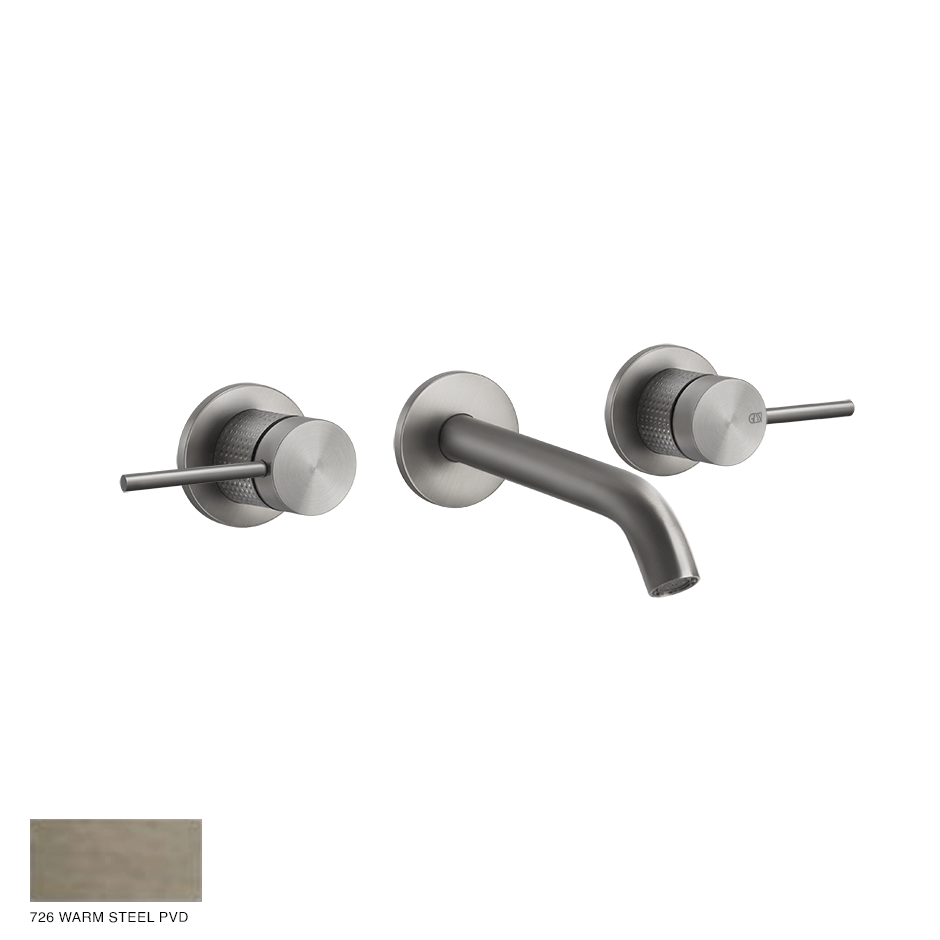 Gessi 316 Built-in Three-hole Mixer Cesello, without waste 726 Warm Bronze Brushed PVD