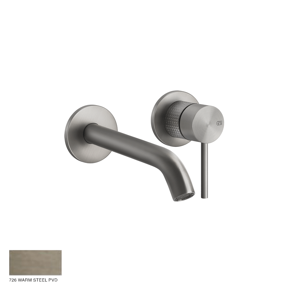 Gessi 316 Built-in Mixer with spout Cesello, without waste 726 Warm Bronze Brushed PVD