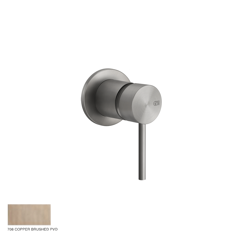 Gessi 316 Built-in mixer Flessa, one-way 708 Copper Brushed PVD