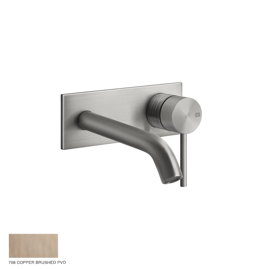 Gessi 316 Built-in Mixer with spout Trame, without waste 708 Copper Brushed PVD
