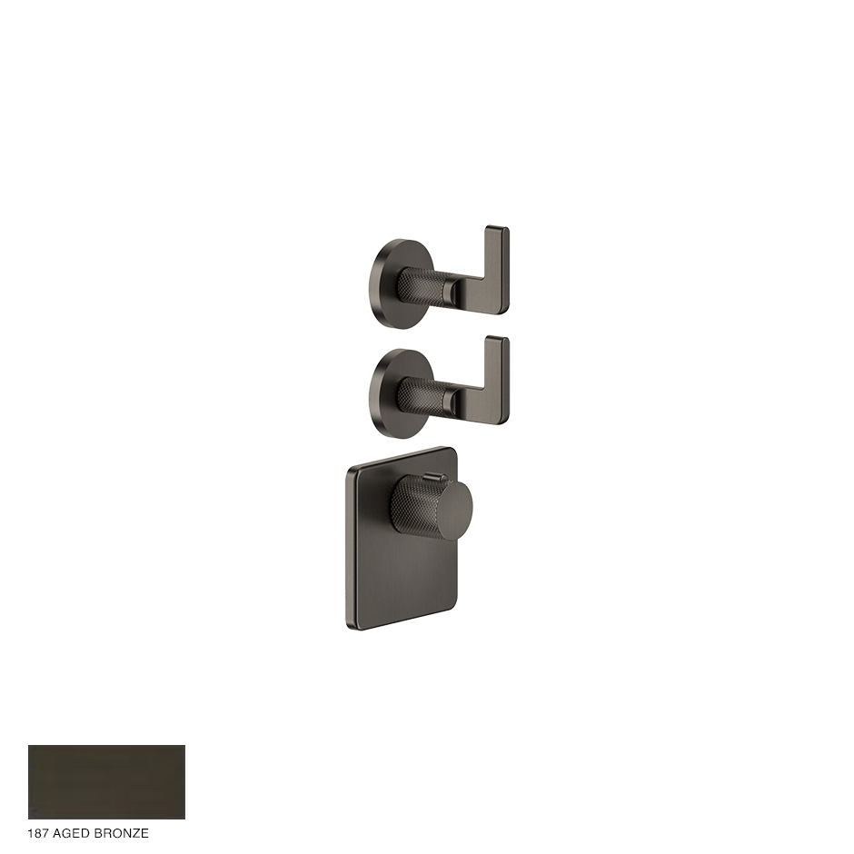 Inciso Wellness Built-in mixer, two outlets 187 Aged Bronze
