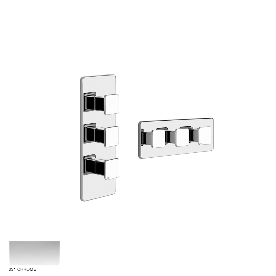 Ispa Wellness Built-in mixer, two outlets 031 Chrome