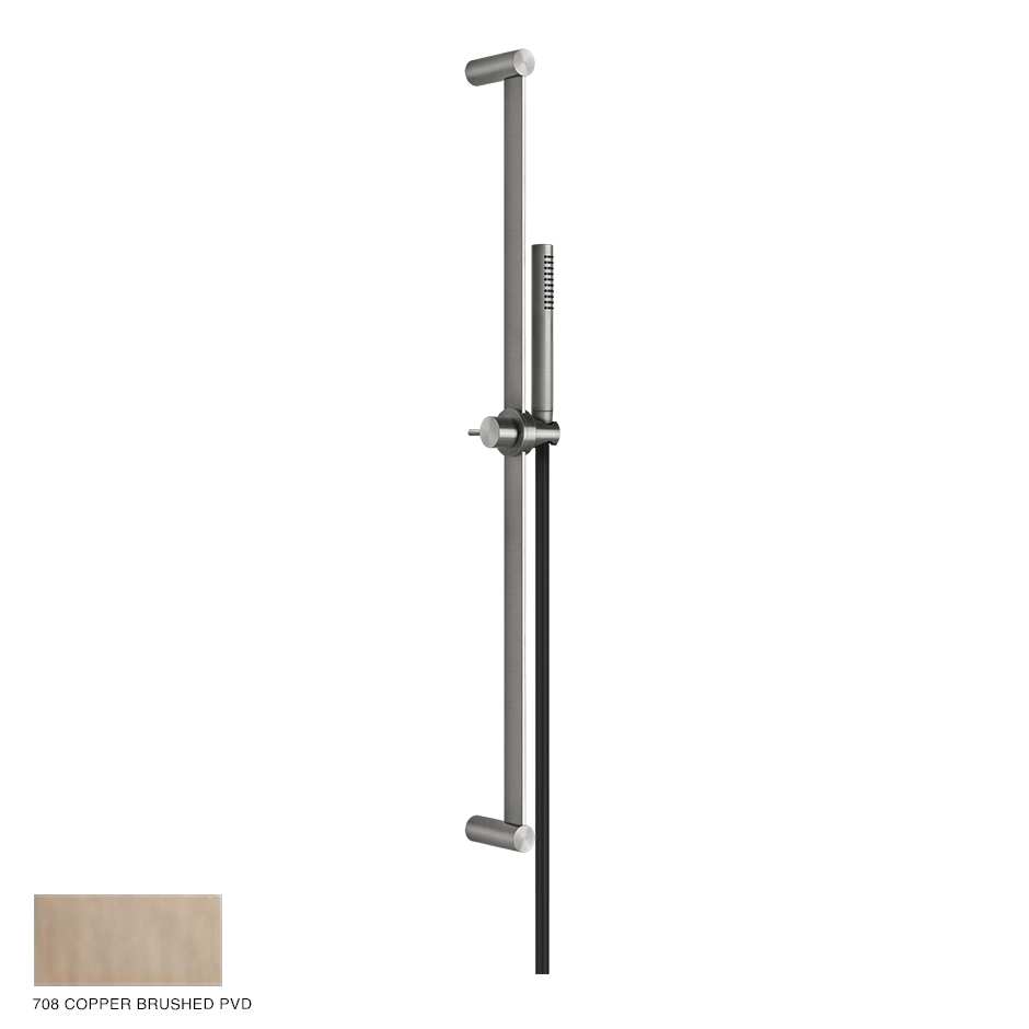 Gessi 316 Sliding rail with handshower and hose 708 Copper Brushed
