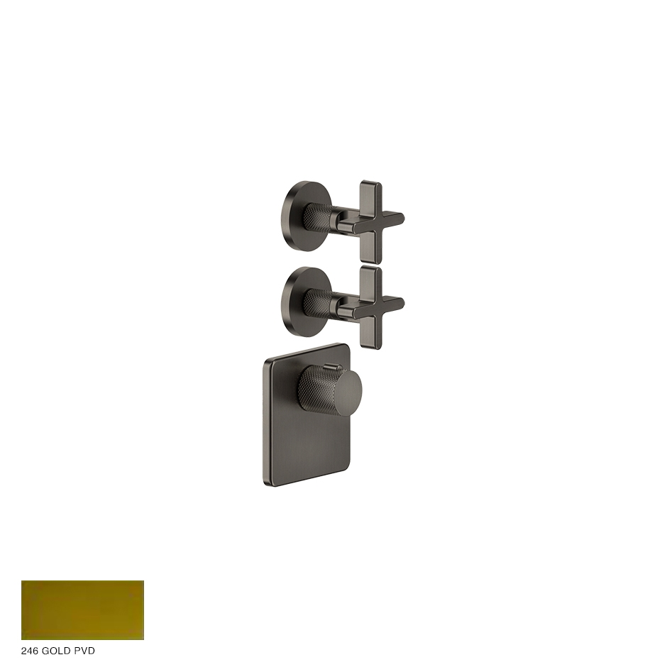 Inciso Wellness Built-in mixer, two outlets 246 Gold PVD