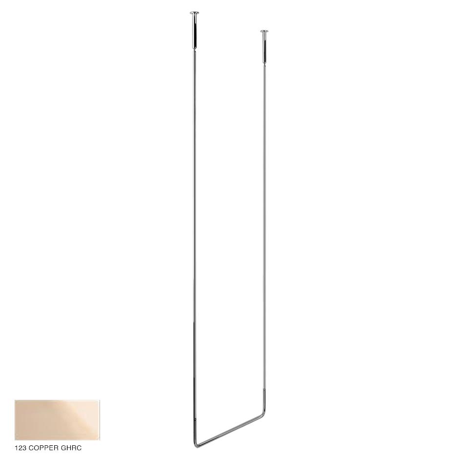 Goccia Ceiling towel rail, 60cm width, 160cm height 123 Copper GHRC