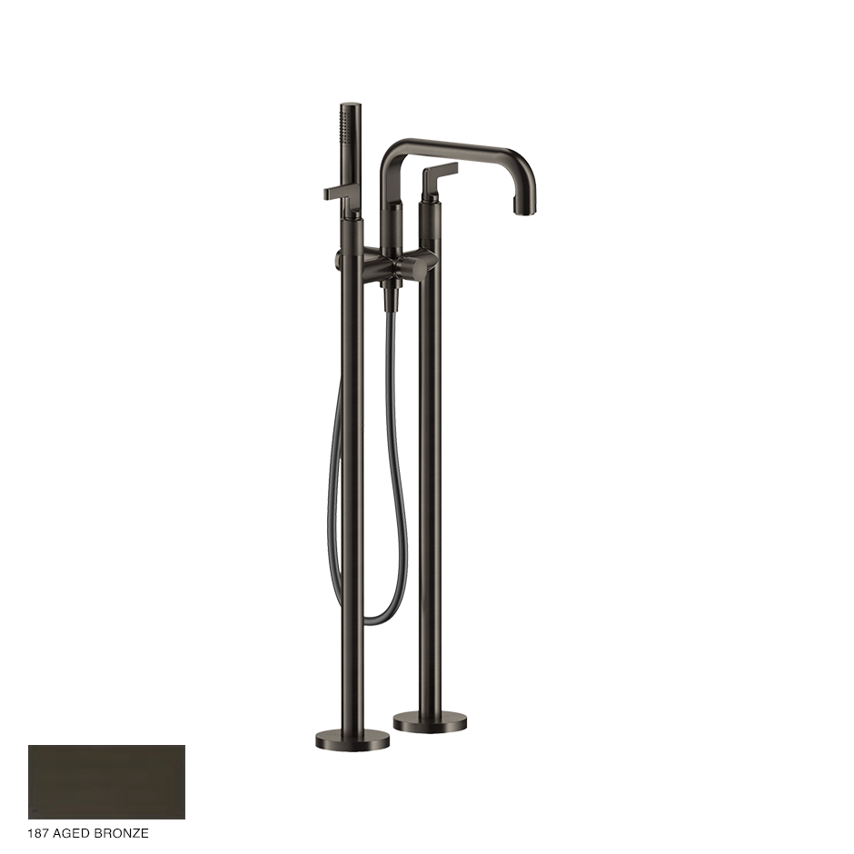 Inciso- Freestanding Bath Mixer with handshower 187 Aged Bronze