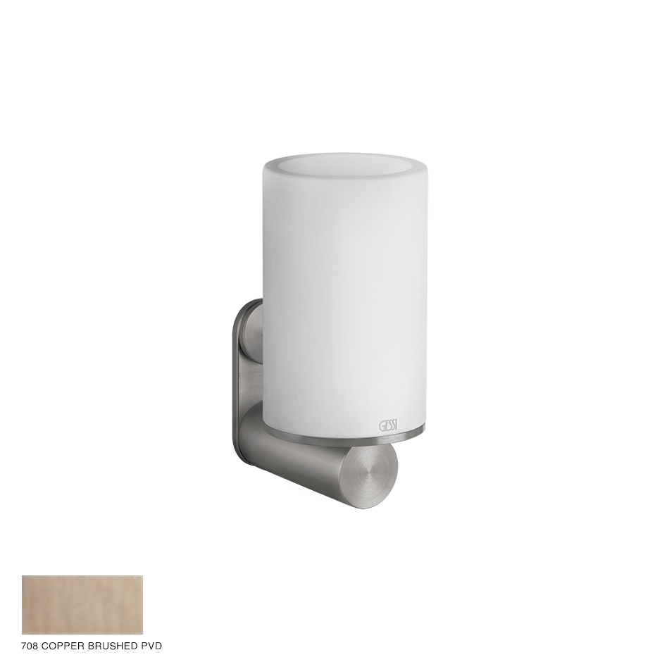 Gessi 316 Wall-mounted tumbler holder 708 Copper Brushed PVD