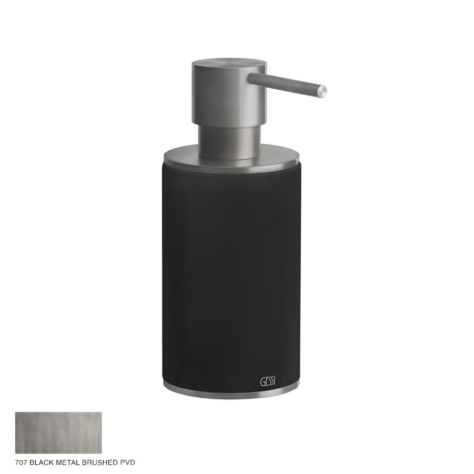 Gessi 316 Standing soap dispenser 707 Black Metal Brushed