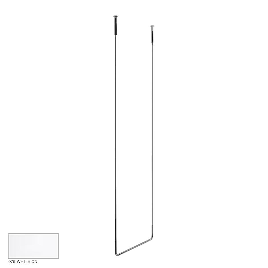 Goccia Ceiling towel rail, 60cm width, 180cm height 079 White CN