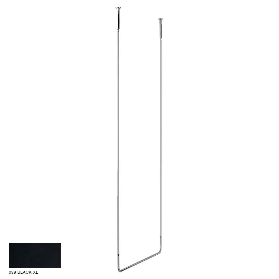 Goccia Ceiling towel rail, 60cm width, 160cm height 099 Black XL