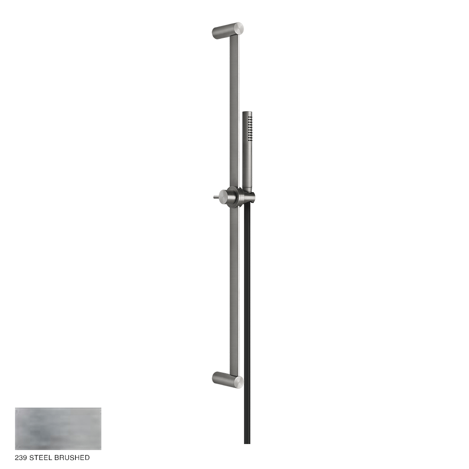 Gessi 316 Sliding rail with handshower and hose 239 Steel brushed