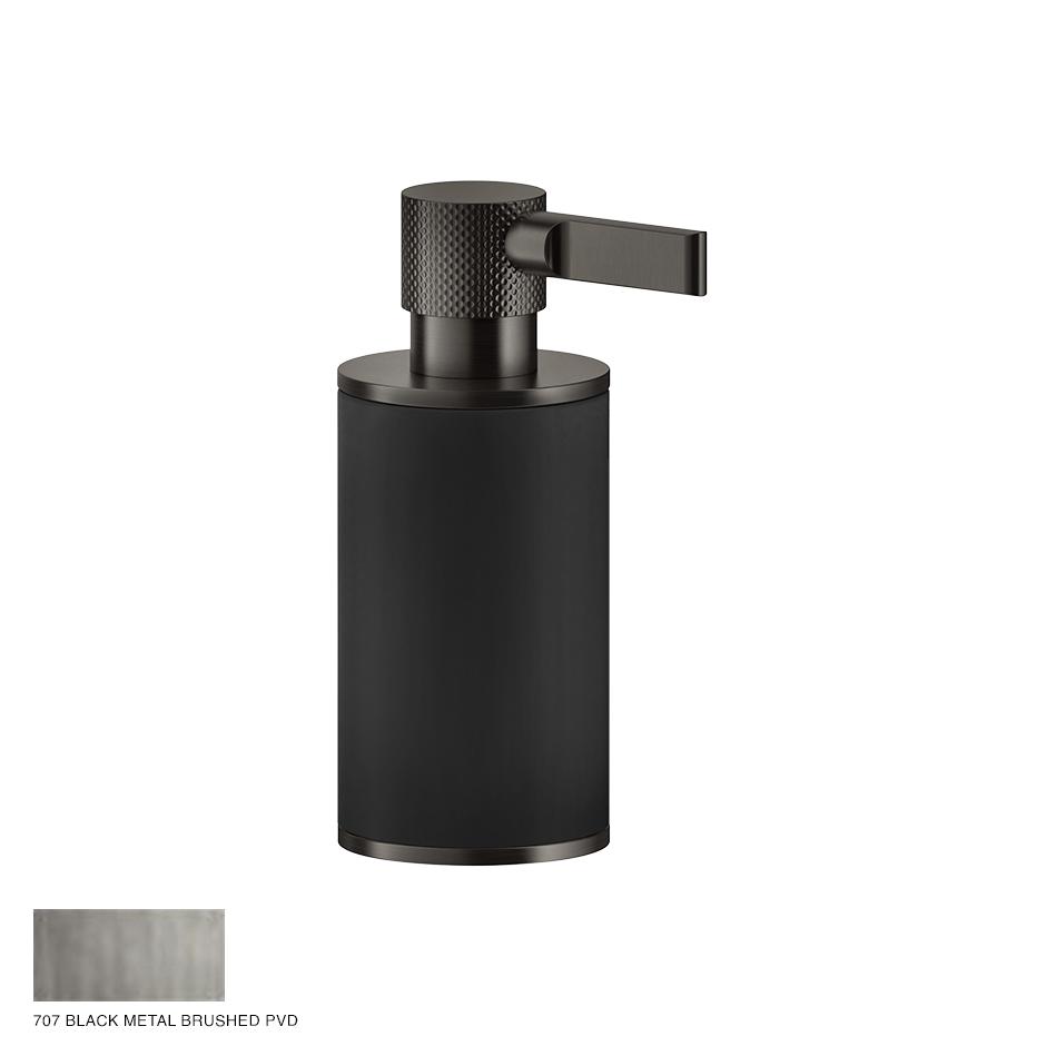 Inciso Standing soap dispenser 707 Black Metal Brushed PVD