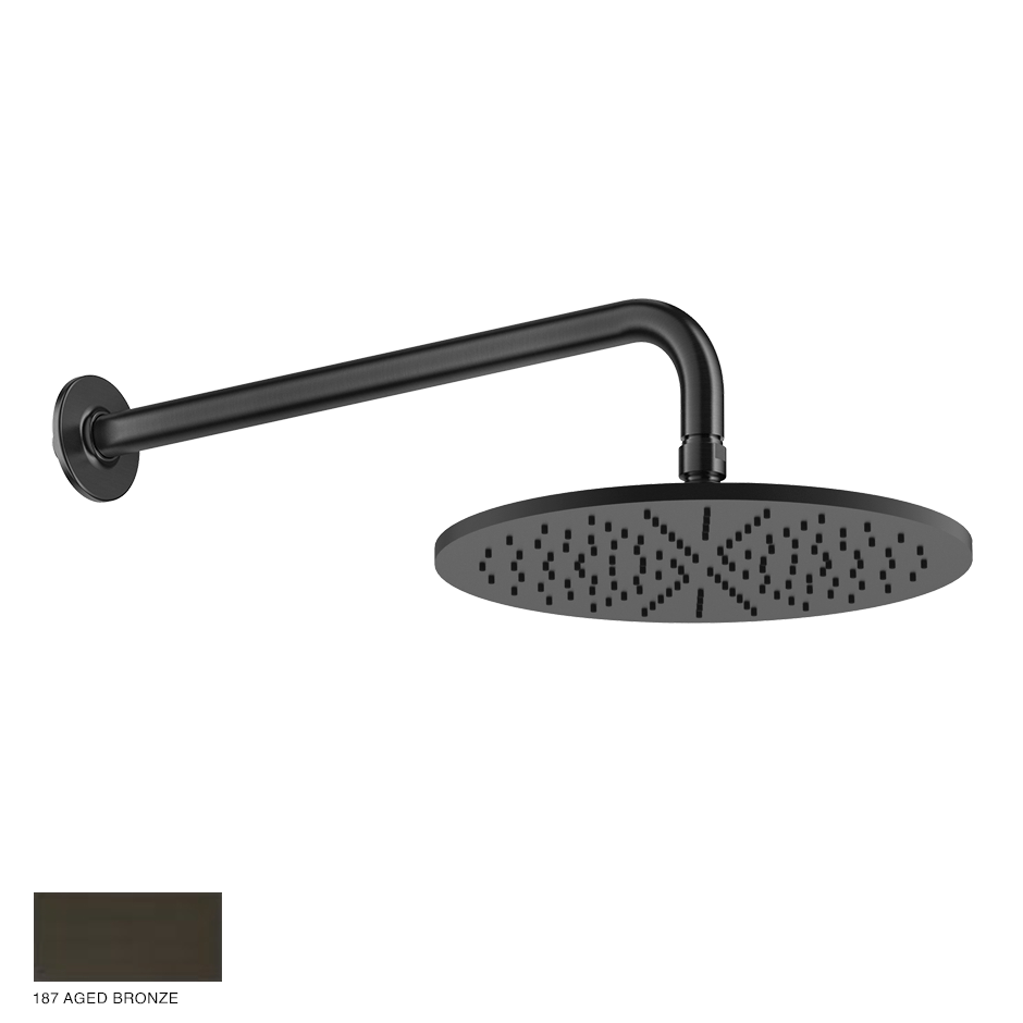 Inciso Wall-mounted Showerhead 187 Aged Bronze
