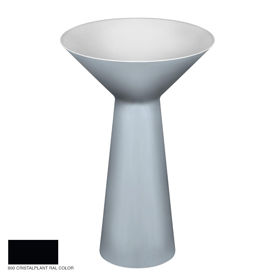 Cono Freestanding washbasin, floor drainage 800 Cristalplant