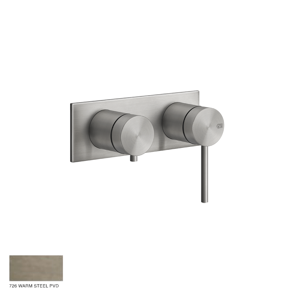 Gessi 316 Built-in Mixer, two-way, automatic diverter 726 Warm Bronze Brushed PVD