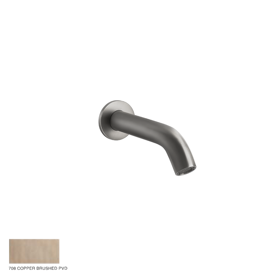 Gessi 316 Bath spout with separate control 708 Copper Brushed