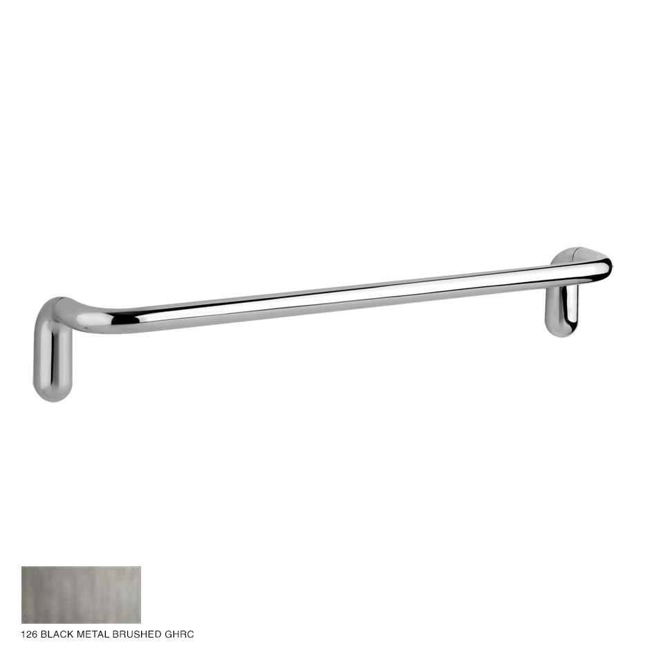 Goccia Towel rail, 30cm 126 Black Metal Brushed GHRC