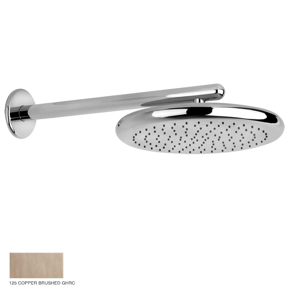 Goccia Wall-mounted showerhead 125 Copper Brushed GHRC