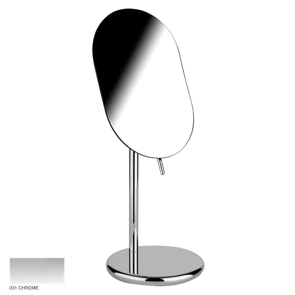 Goccia Adjustable standing mirror 031 Chrome