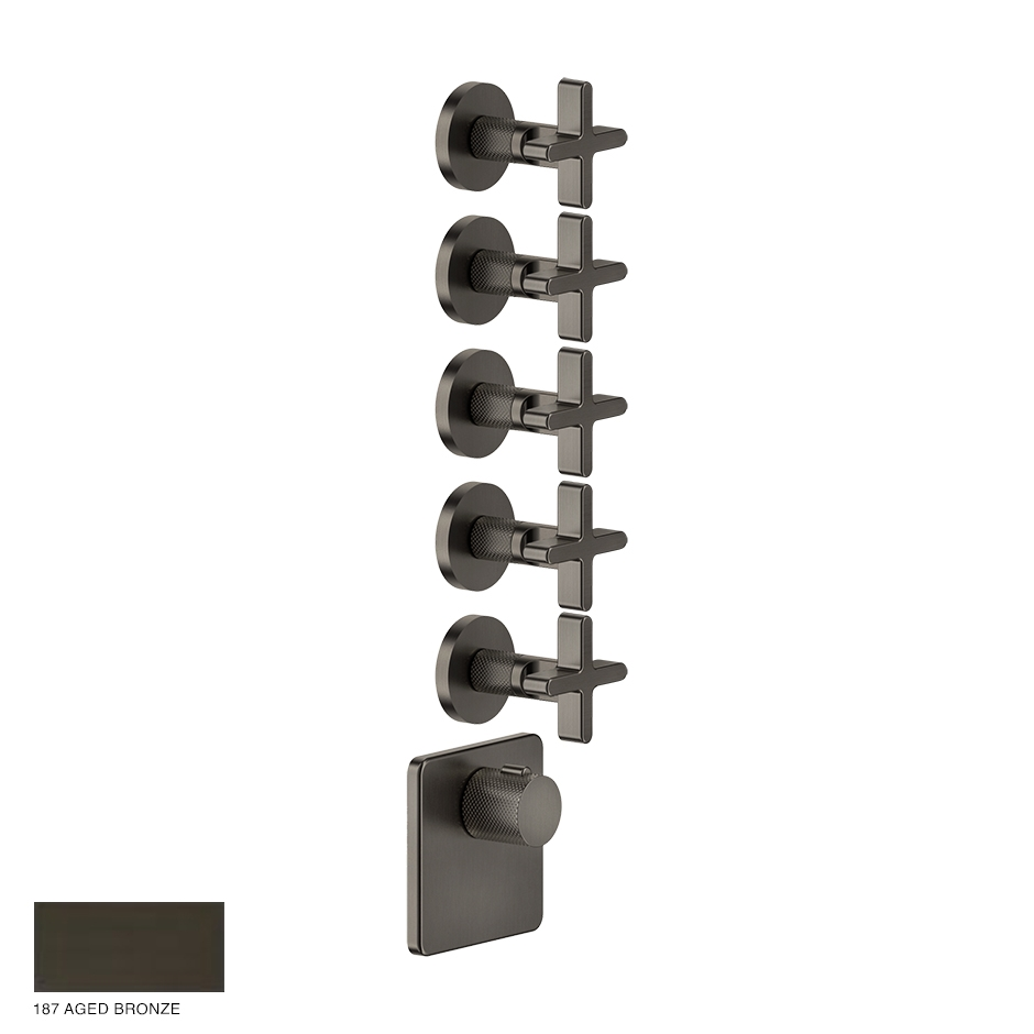Inciso Wellness Built-in mixer, five outlets 187 Aged Bronze