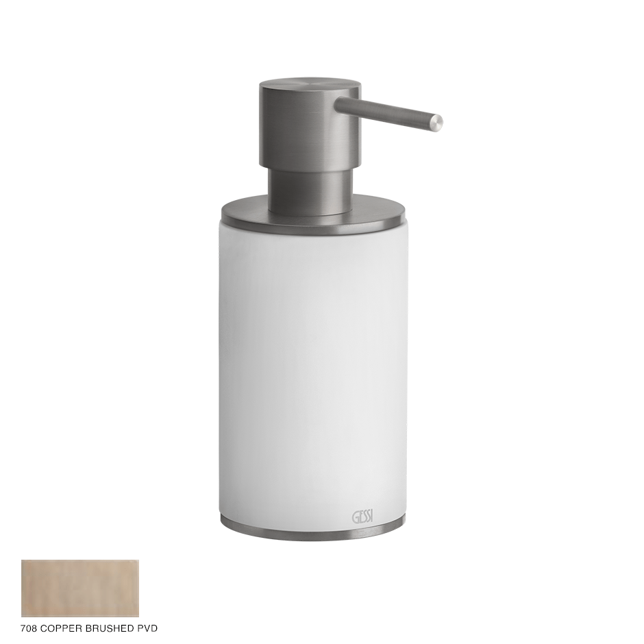 Gessi 316 Standing soap dispenser 708 Copper Brushed PVD