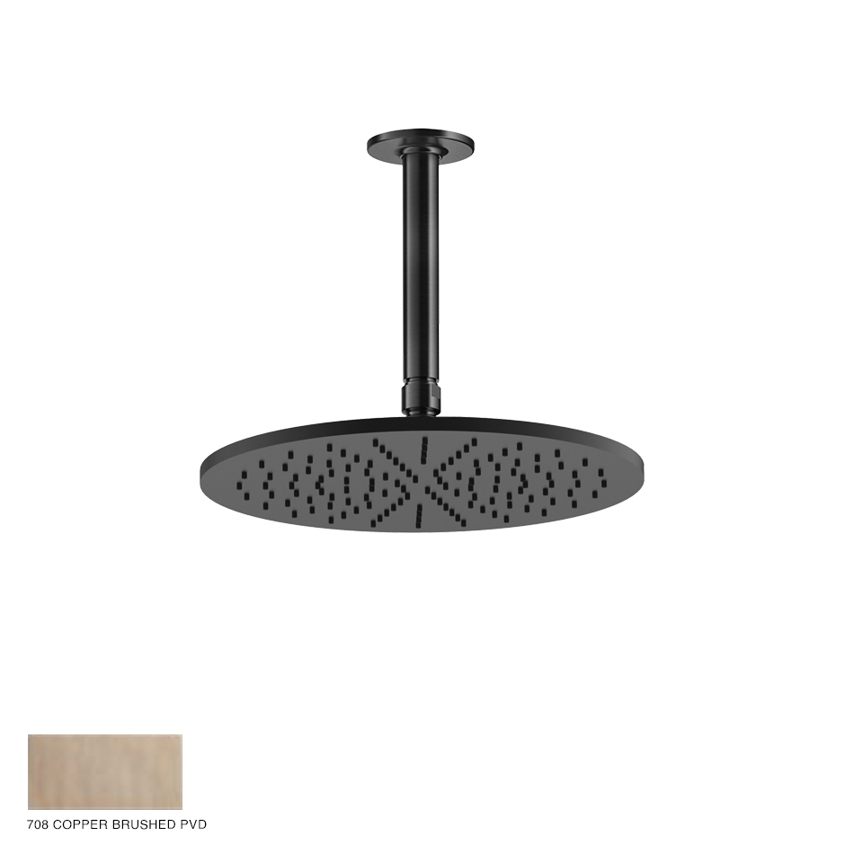 Inciso Ceiling-mounted Showerhead 708 Copper Brushed PVD