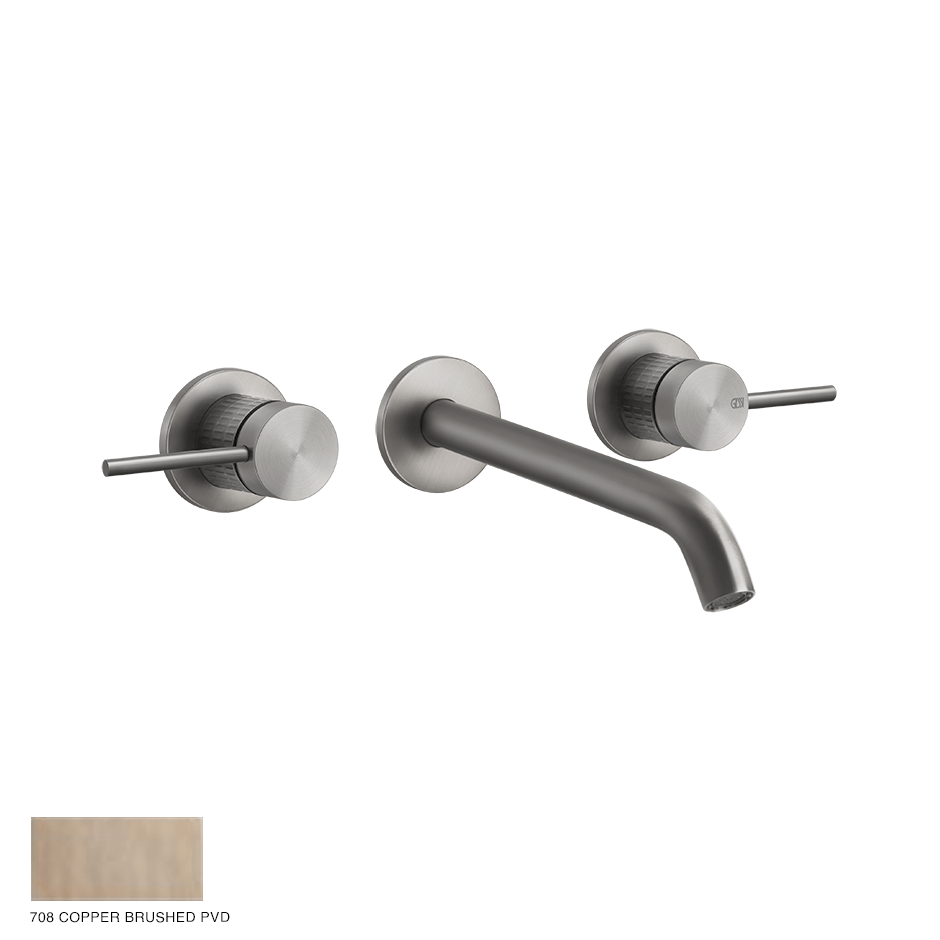 Gessi 316 Built-in Three-hole Mixer Meccanica, without waste 708 Copper Brushed