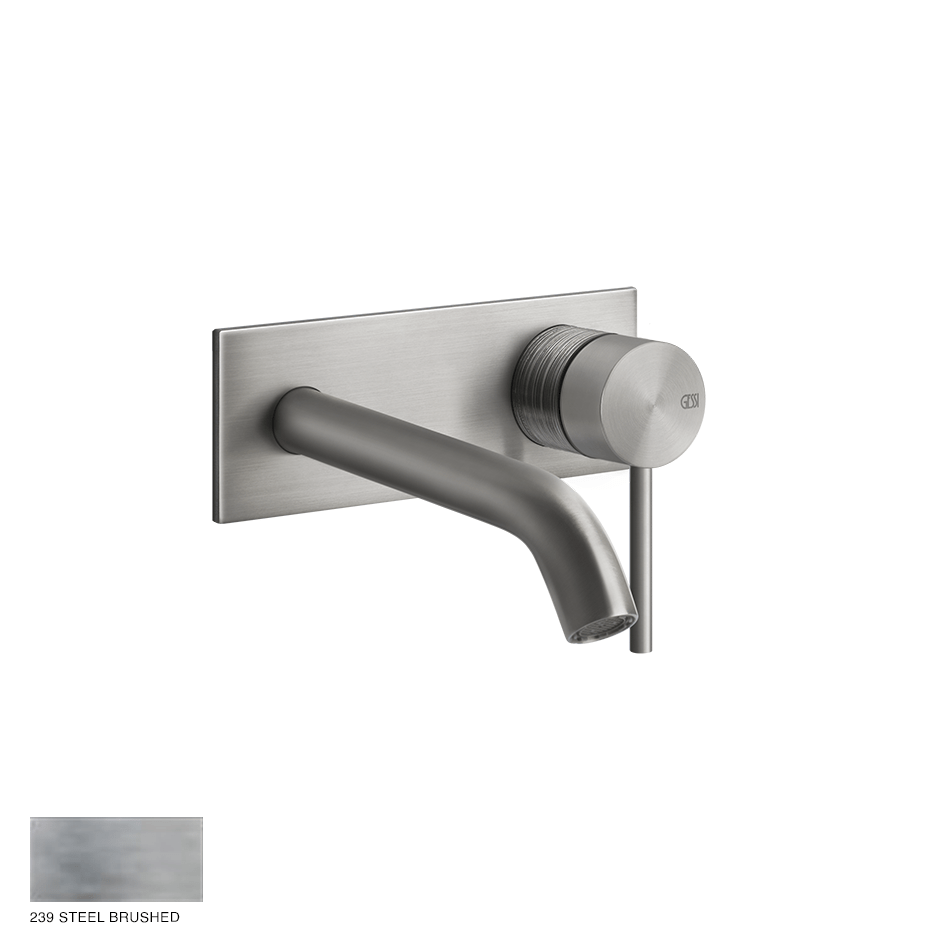Gessi 316 Built-in Mixer with spout Trame, without waste 239 Steel brushed