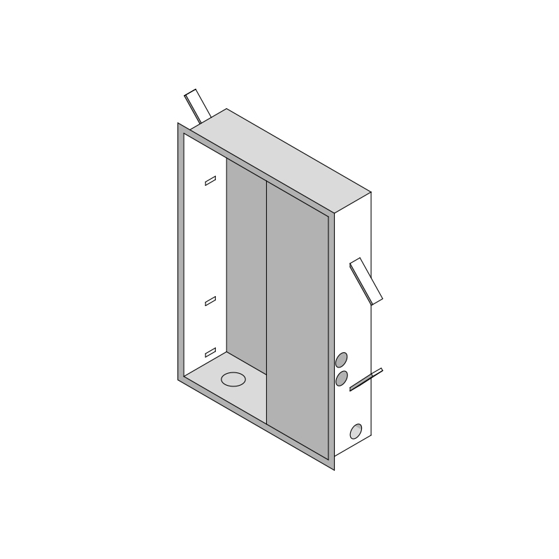 Counterbox for Easysteam/Aquasteam 37x10x54h