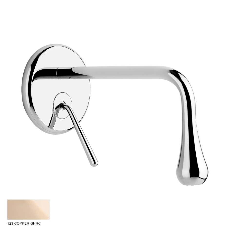 Goccia Built-in mixer with spout, without waste 123 Copper GHRC