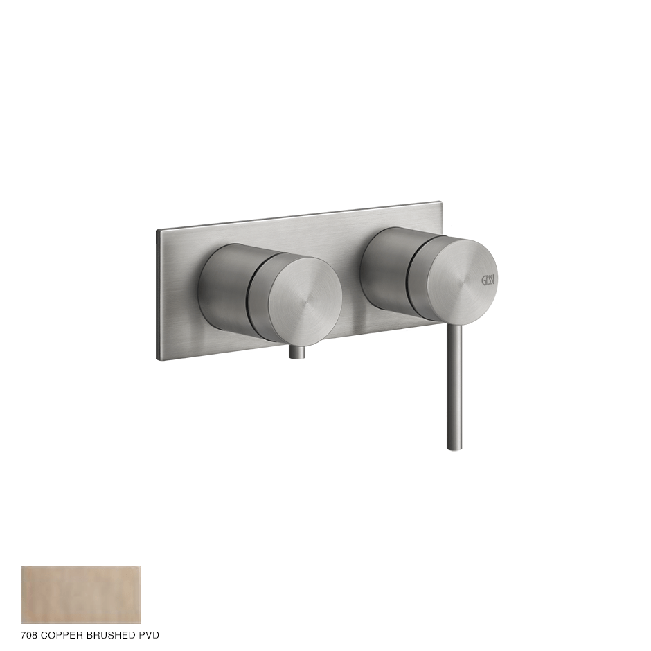 Gessi 316 Built-in Mixer, two-way, automatic diverter 708 Copper Brushed