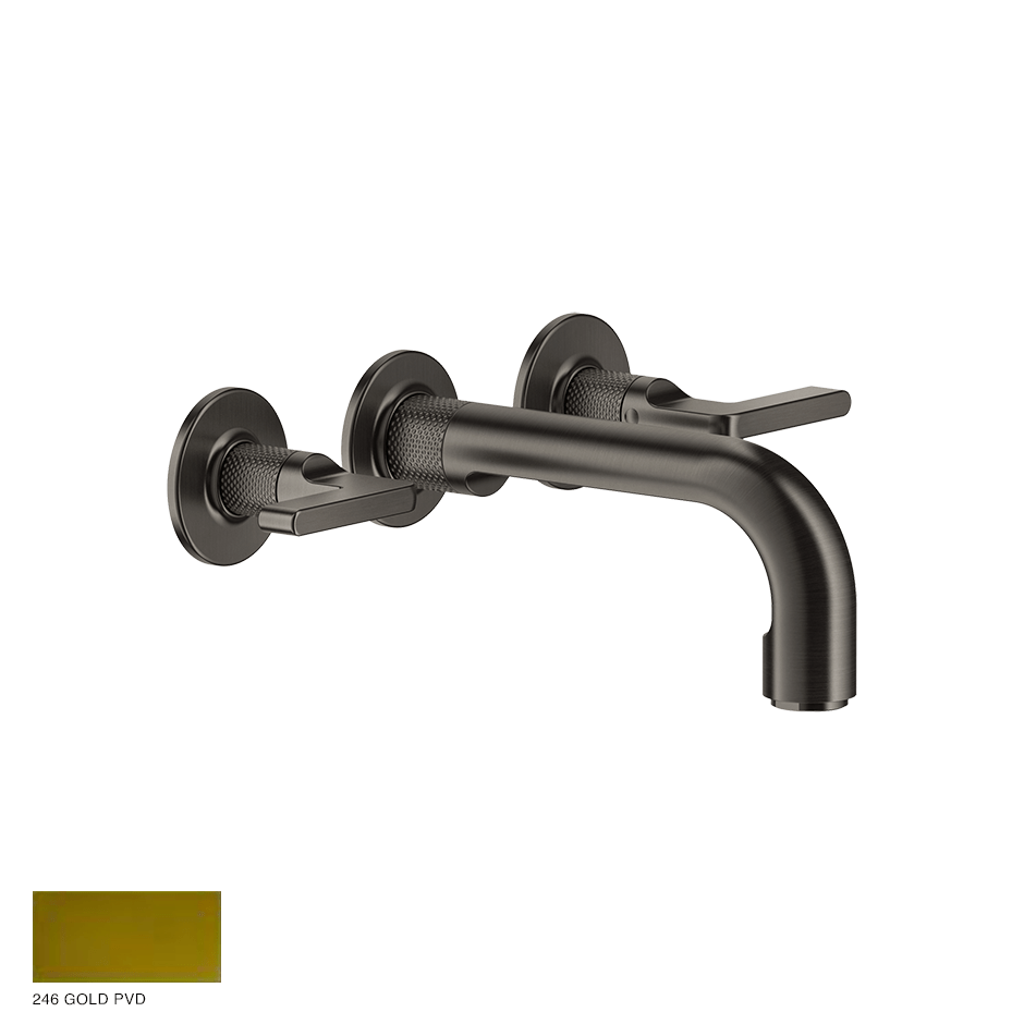 Inciso- Three-hole Bath Mixer with spout 246 Gold PVD
