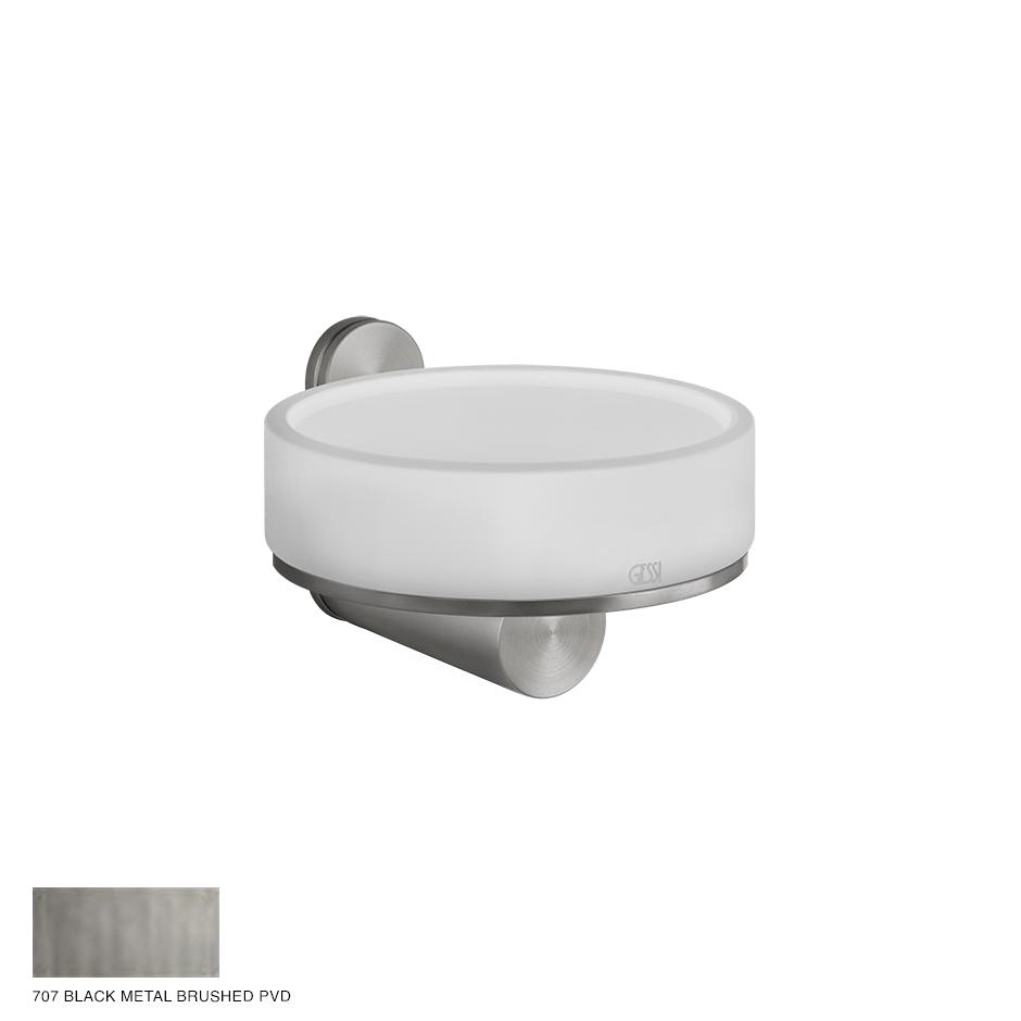 Gessi 316 Wall-mounted soap holder 707 Black Metal Brushed