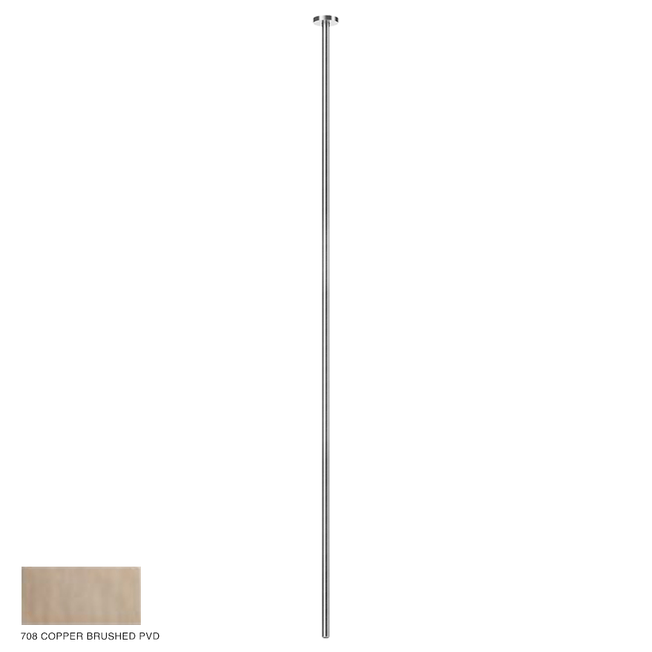 Gessi 316 Ceiling-mounted spout Flessa, custom length 708 Copper Brushed PVD