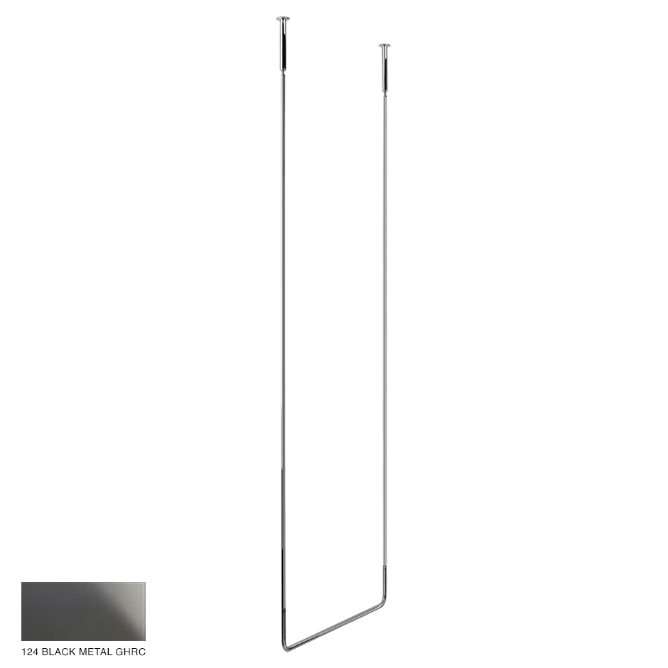 Goccia Ceiling towel rail, 60cm width, 160cm height 124 Black Metal GHRC