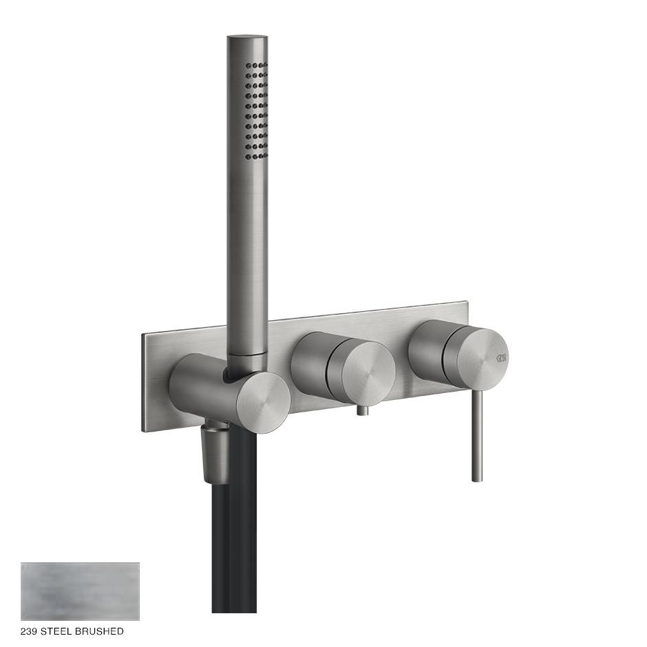 Gessi 316 Two-way Shower Mixer,diverter,outlet,handshower 239 Steel brushed