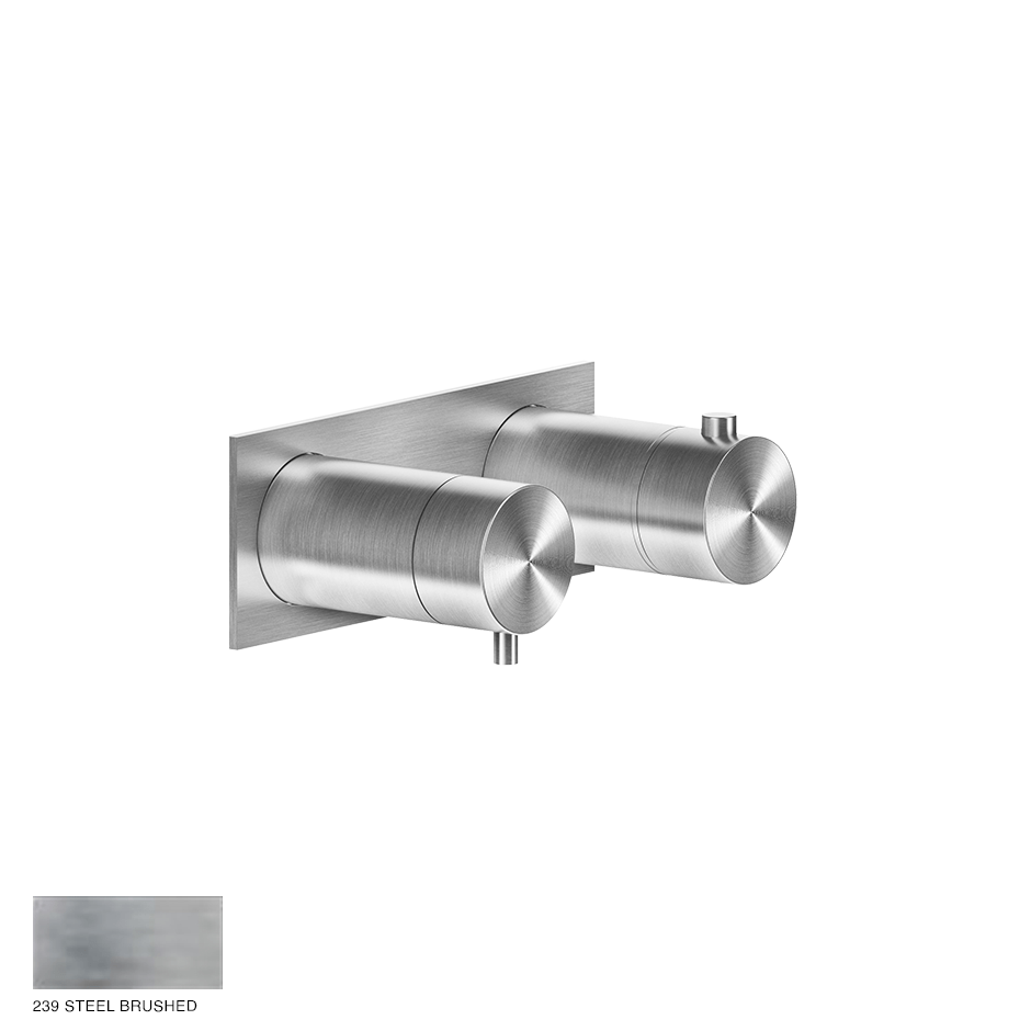 Gessi 316 Thermostatic Mixer, one-way 239 Steel brushed