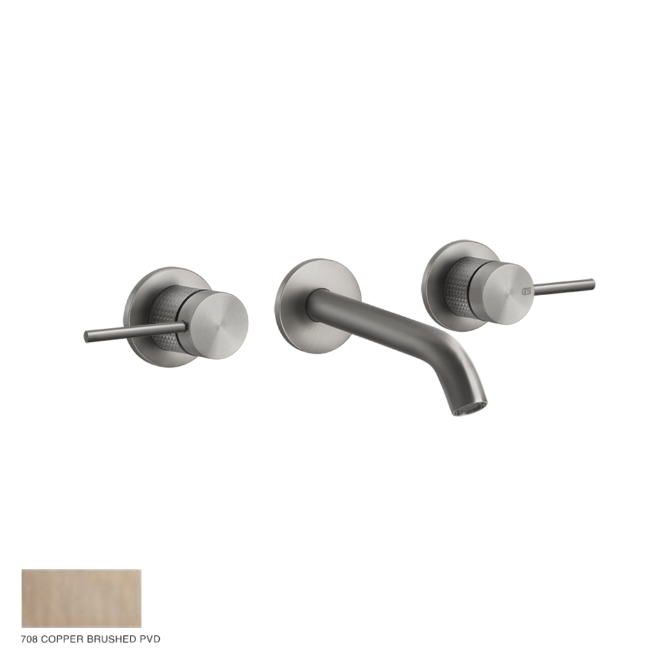 Gessi 316 Built-in Three-hole Mixer Cesello, without waste 708 Copper Brushed