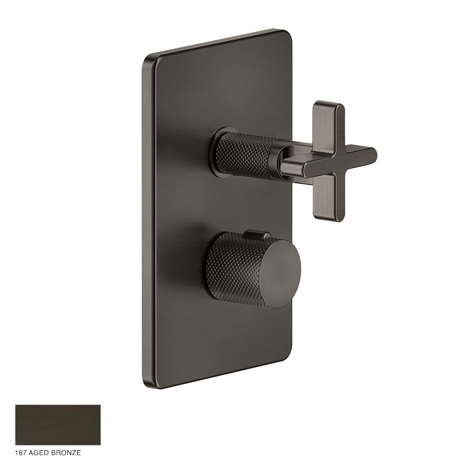 Inciso+ Thermostatic Mixer with one-way diverter 187 Aged Bronze